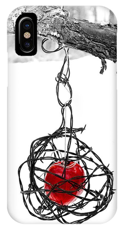 Cage IPhone X Case featuring the photograph Forbidden Fruit by Aaron Aldrich