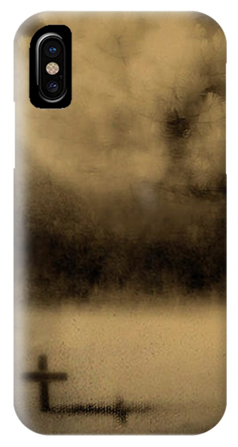 Infrared IPhone X Case featuring the photograph Forbidding Shadows by Gothicrow Images