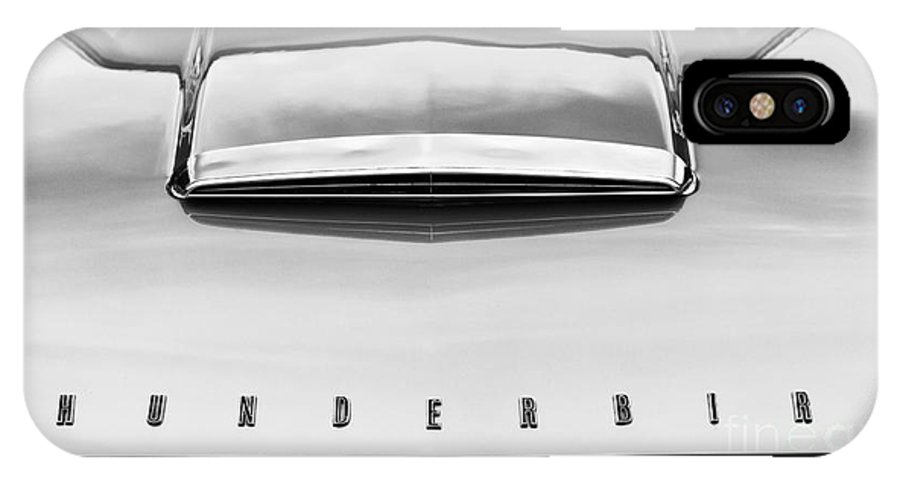 Ford IPhone X Case featuring the photograph Ford Thunderbird Monochrome by Tim Gainey