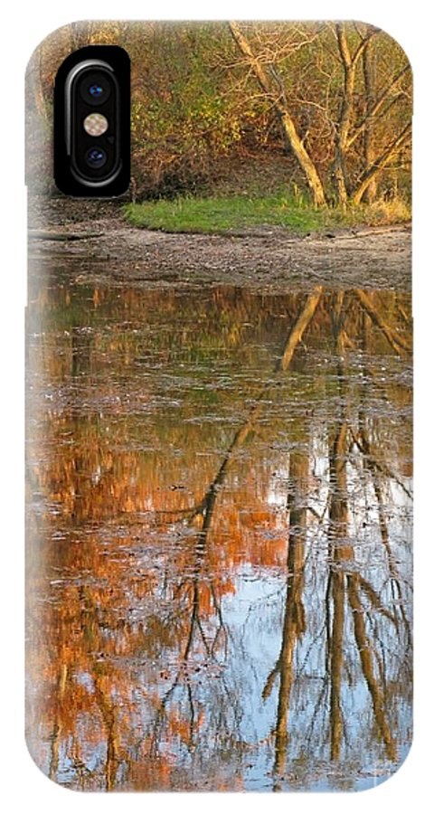 Autumn IPhone X Case featuring the photograph Forest Glow by Ann Horn