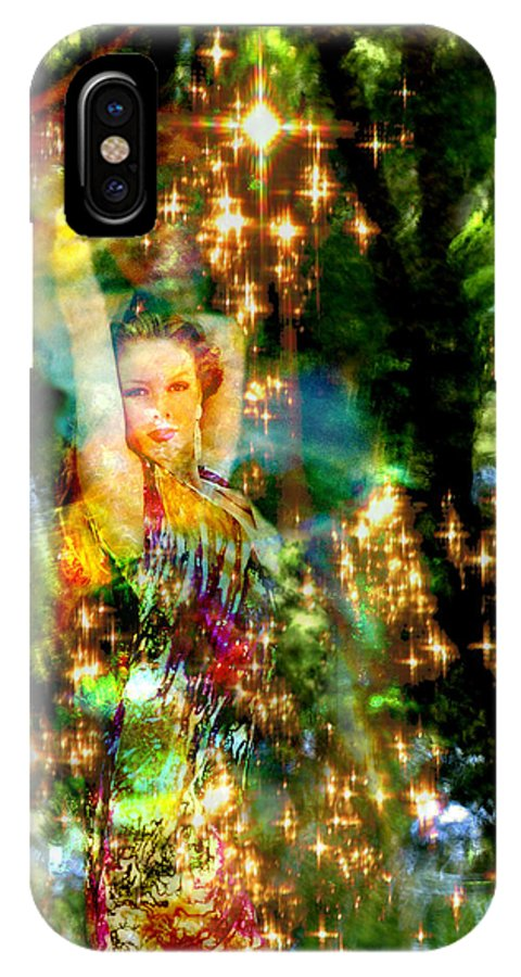 Forest IPhone X Case featuring the digital art Forest Goddess 4 by Lisa Yount