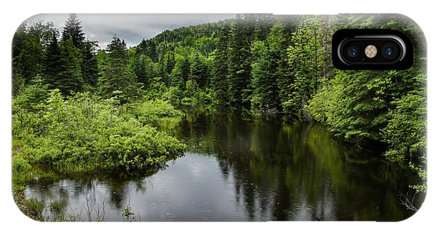 Forest Lake IPhone X Case featuring the photograph Forest Lake - Quebec - Canada by Georgia Mizuleva