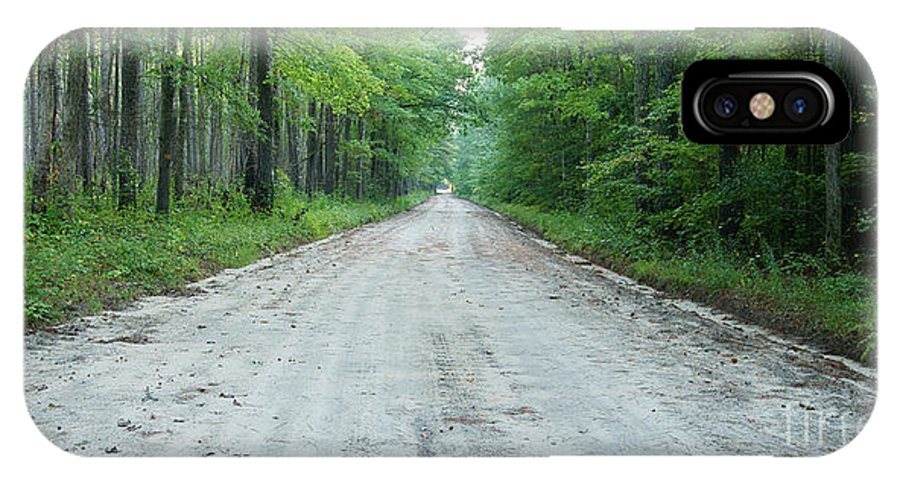 Road IPhone X / XS Case featuring the photograph Forest Lane by Benjamin Reed