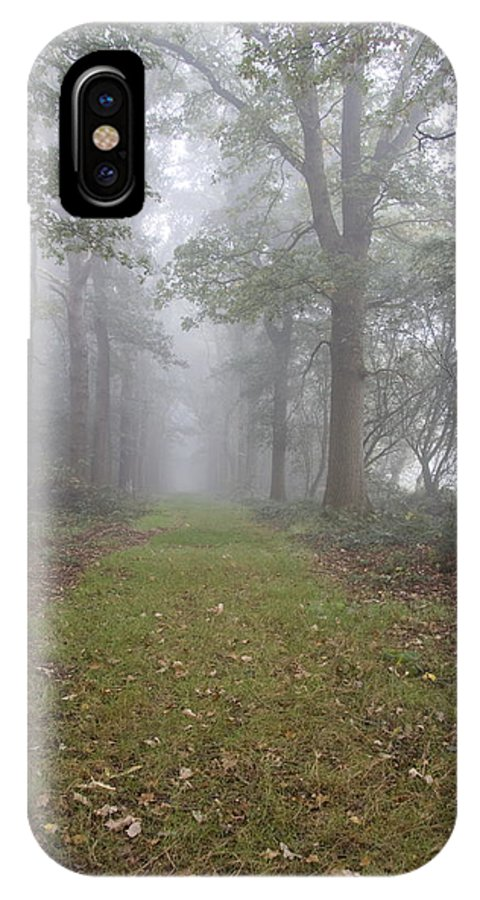 Forest Lane IPhone X Case featuring the photograph Forest Lane by Ronald Jansen