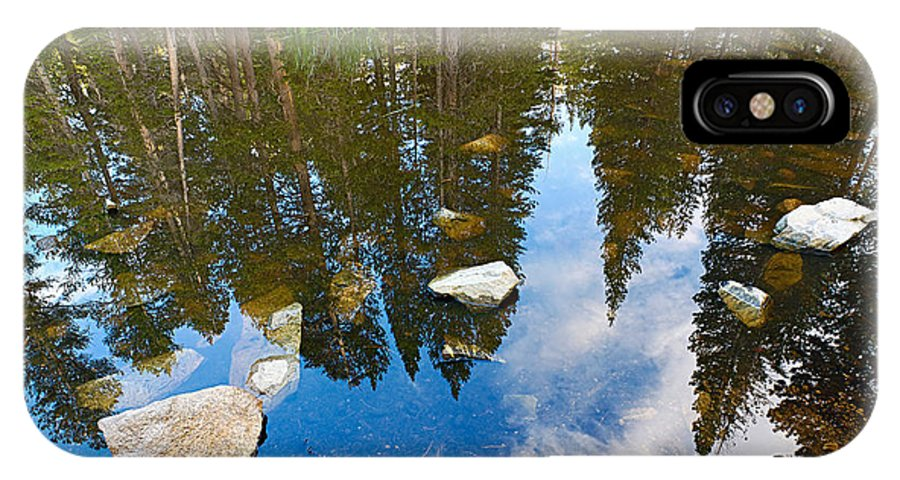 Forest IPhone X Case featuring the photograph Forest Reflection by Jamie Pham