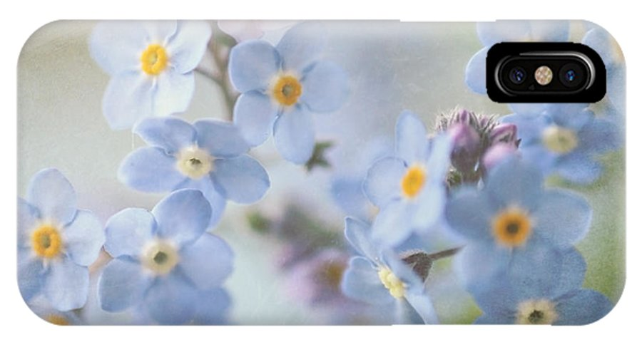 Forget Me Nots IPhone X Case featuring the photograph Forget Me Nots by Sylvia Cook