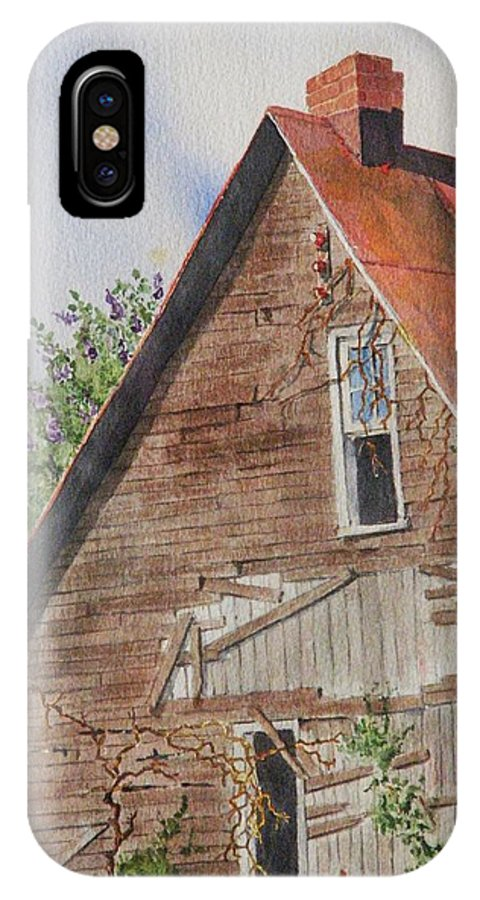 Farm IPhone Case featuring the painting Forgotten Dreams Of Old by Mary Ellen Mueller Legault