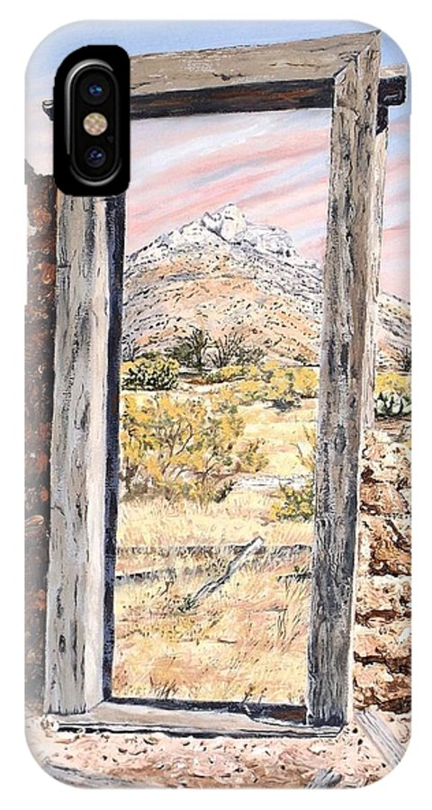 Oil Painting IPhone X Case featuring the painting Forgotten Passage by Jodi Murphy