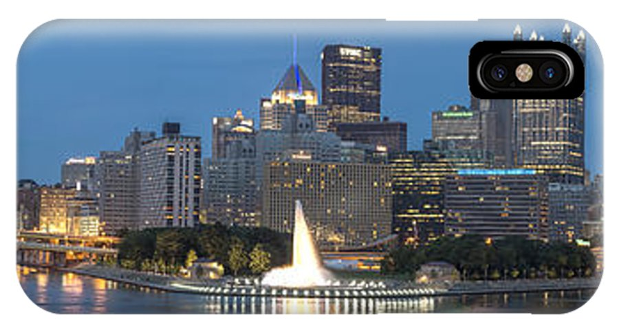 Allegheny IPhone X Case featuring the photograph Forks Of The Ohio by Jennifer Grover