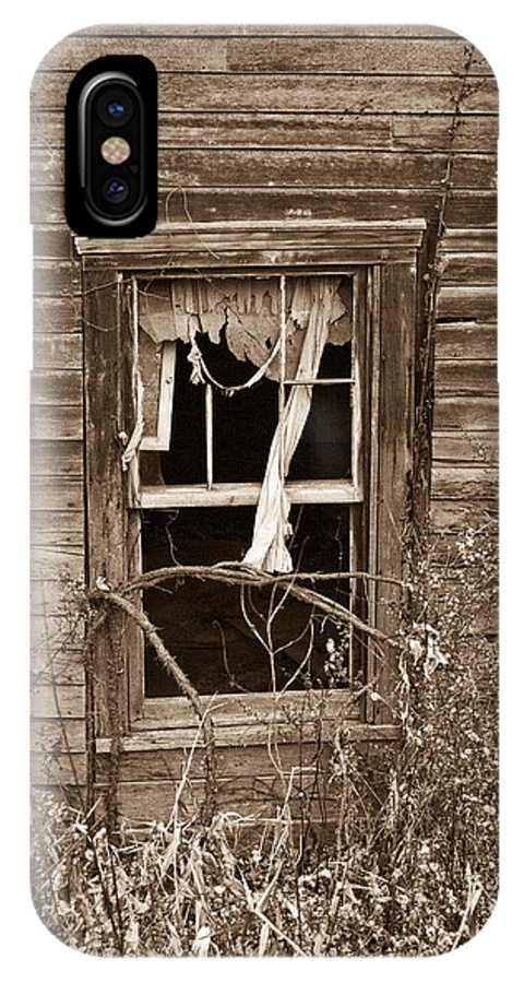 Forlorn IPhone X Case featuring the photograph Forlorn Window by Douglas Barnett