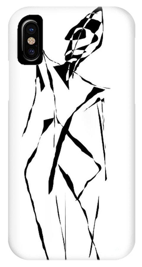 Graphics IPhone X Case featuring the digital art Form 091 Marucii by Marek Lutek