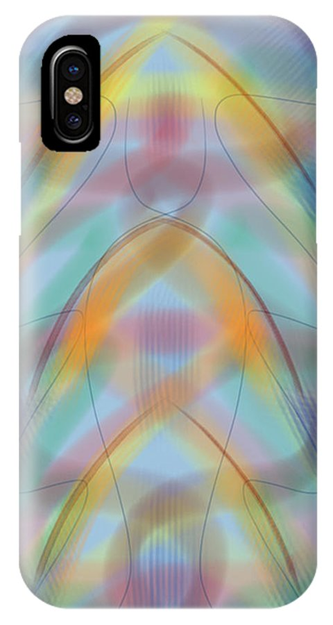 Modern Art IPhone X Case featuring the digital art Formations by Gil Howard-Browne