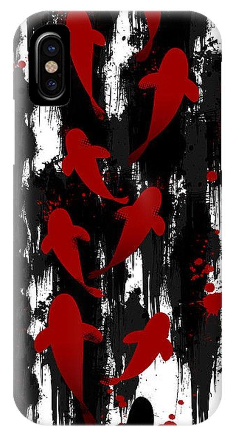 Koi IPhone X Case featuring the digital art Formula Of Harmony by Zaira Dzhaubaeva