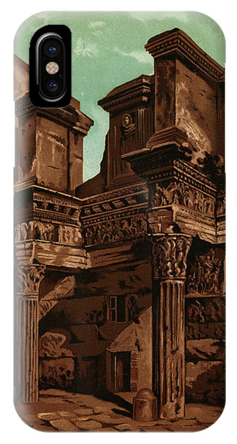 Rome IPhone X Case featuring the drawing Foro Transitorum   Date 1891 by Mary Evans Picture Library