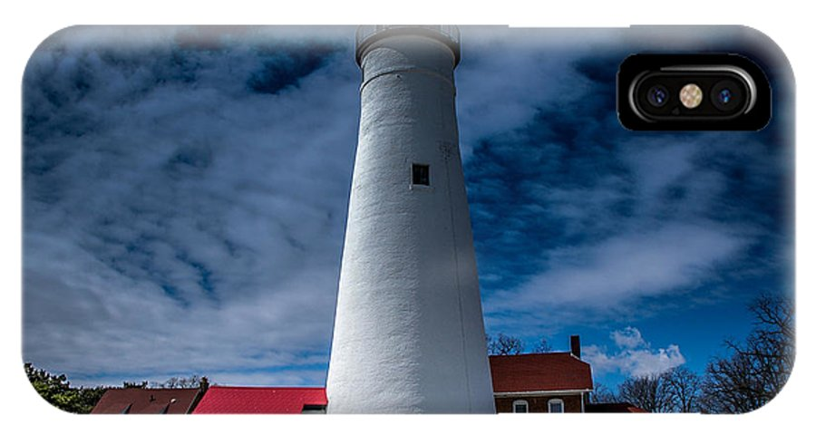 Lighthouse IPhone X Case featuring the photograph Fort Gratiot Lighthouse From The Water Side by Ronald Grogan
