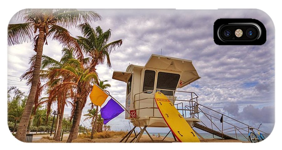 Landscape IPhone X Case featuring the photograph Fort Lauderdale Lifeguard Station by DM Photography- Dan Mongosa