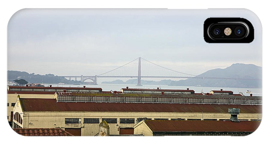 Travel IPhone X Case featuring the photograph Fort Mason And Golden Gate Bridge by Jason O Watson