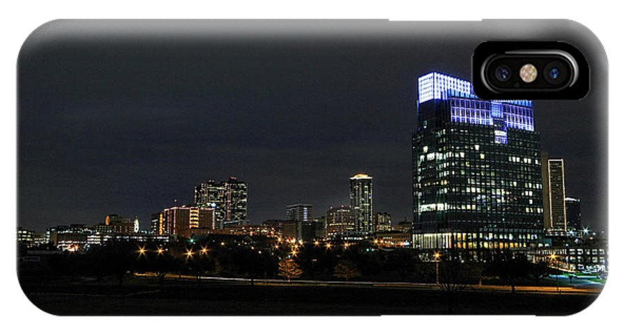 Fort Worth IPhone X Case featuring the photograph Fort Worth Chesapeake Plaza by Jonathan Davison