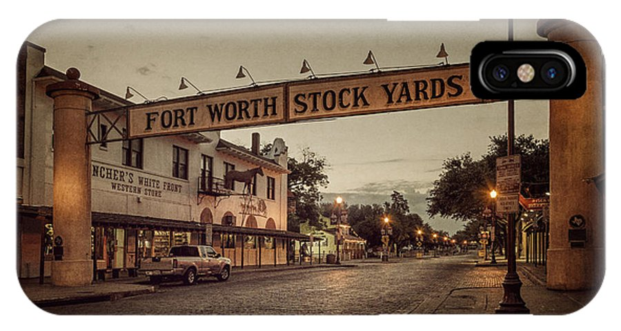 Joan Carroll IPhone X Case featuring the photograph Fort Worth Stockyards by Joan Carroll