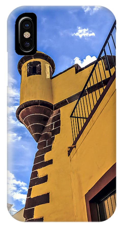 Architecture IPhone X / XS Case featuring the photograph Forte De San Tiago by Maria Coulson