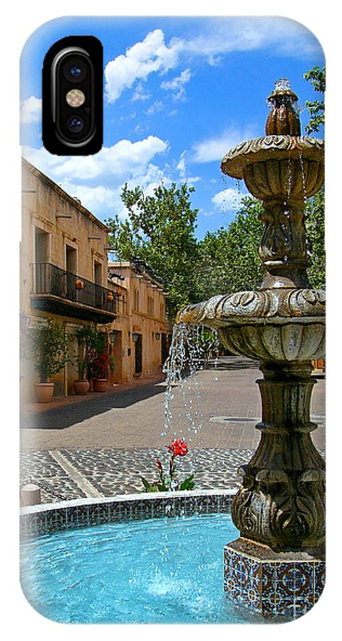Tlaquepaque IPhone X Case featuring the photograph Fountain At Tlaquepaque Arts And Crafts Village Sedona Arizona by Amy Cicconi