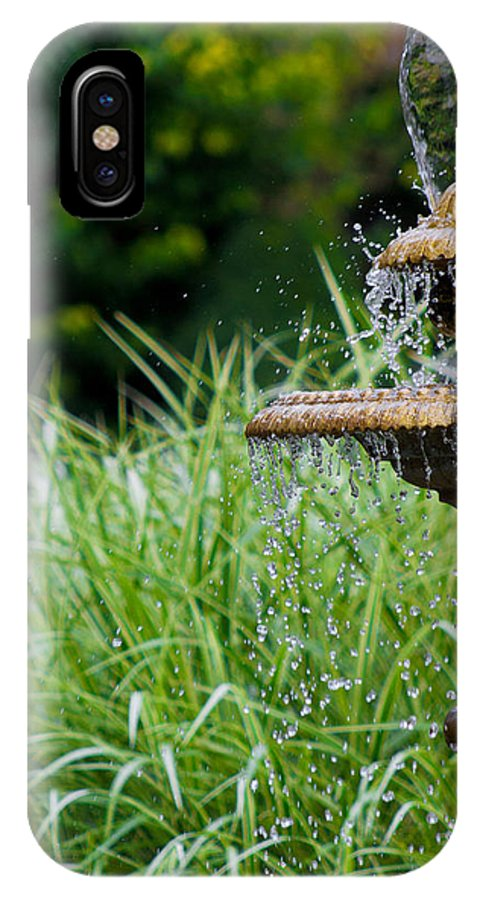 Hamburg IPhone X Case featuring the photograph Fountain Of Youth by P K Eisenhard