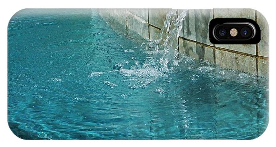 Pool IPhone X Case featuring the photograph Fountain St Francisville Inn Louisiana by Lizi Beard-Ward