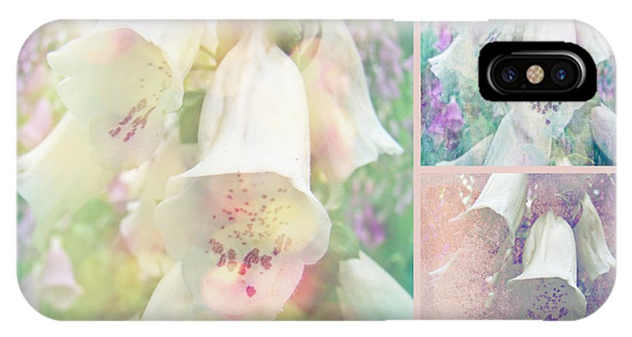 Foxgloves IPhone X Case featuring the photograph Foxgloves - The Trilogy by Mother Nature