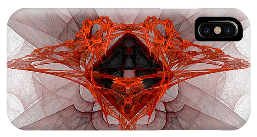 Fractal 080 IPhone X Case featuring the digital art Fractal 080 by Taylor Webb