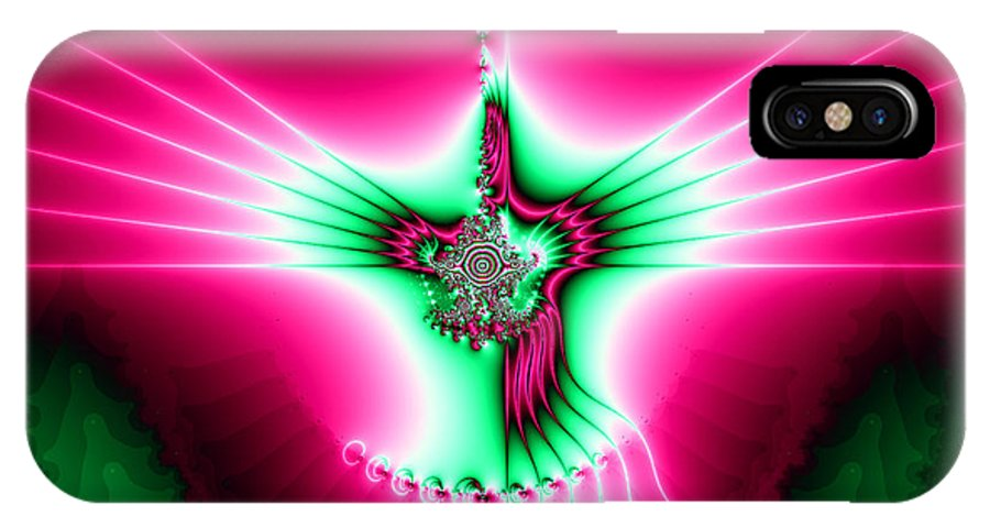 Holy Spirit IPhone X Case featuring the digital art Fractal 11 Holy Spirit by Rose Santuci-Sofranko
