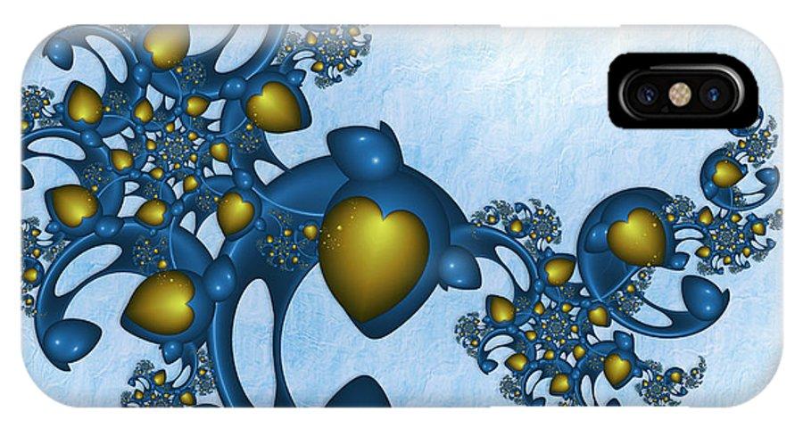 Fractal IPhone X Case featuring the digital art Fractal Tears Of Joy 2 by Gabiw Art
