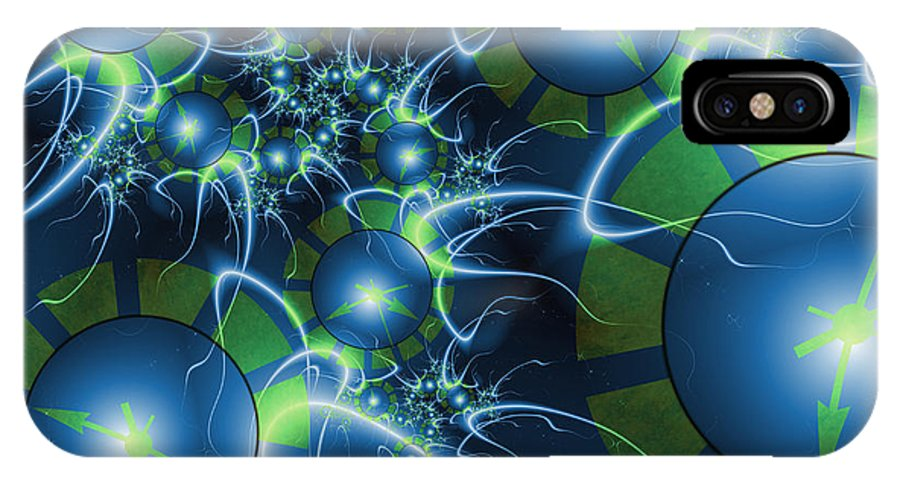 Fractal IPhone X Case featuring the digital art Fractal Time Travel by Gabiw Art