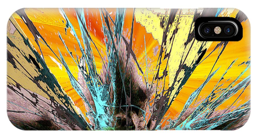 Fractured Sunset IPhone X Case featuring the digital art Fractured Sunset by Seth Weaver