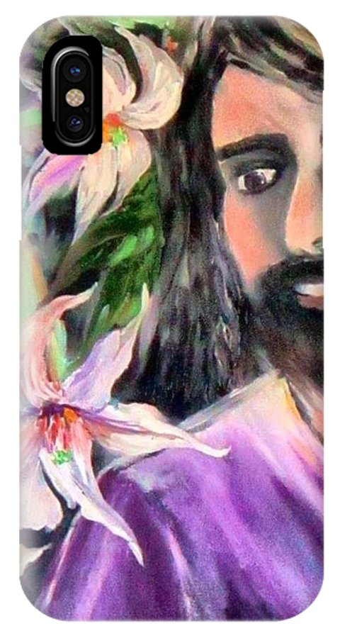 Jesus IPhone X Case featuring the painting Fragrance Of Peace by Deana Harvey