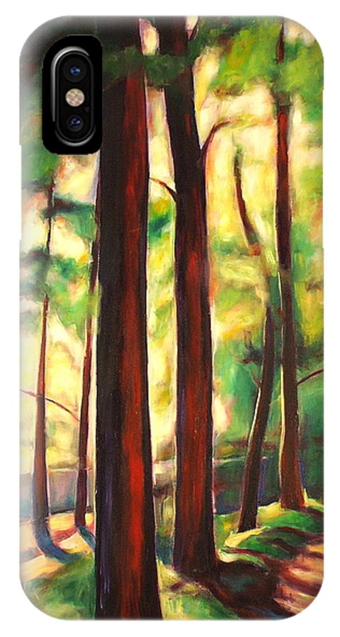 Branch IPhone X Case featuring the painting Franciscan Way I by Sheila Diemert