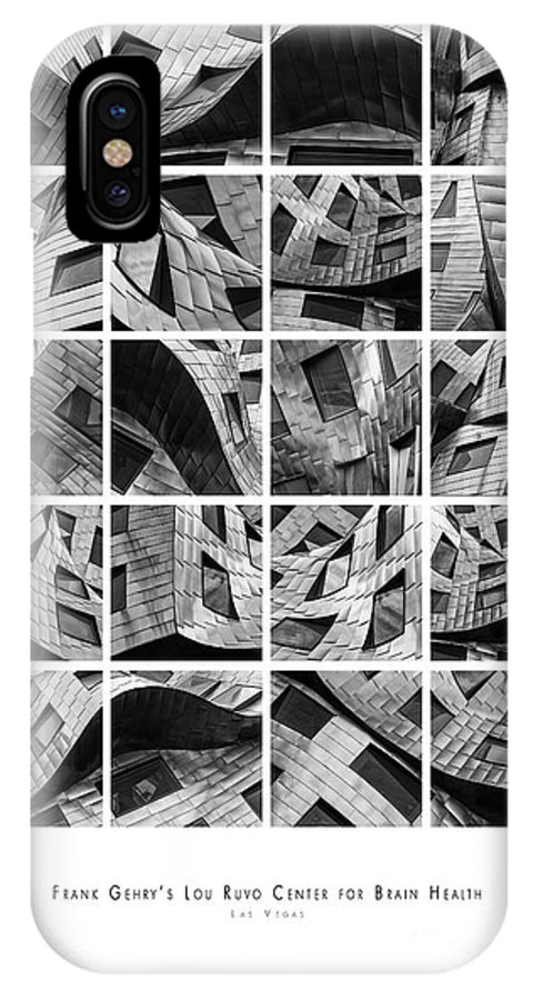 Las Vegas IPhone X Case featuring the photograph Frank Gehry's Lou Ruvo Center For Brain Health by Doug Sturgess