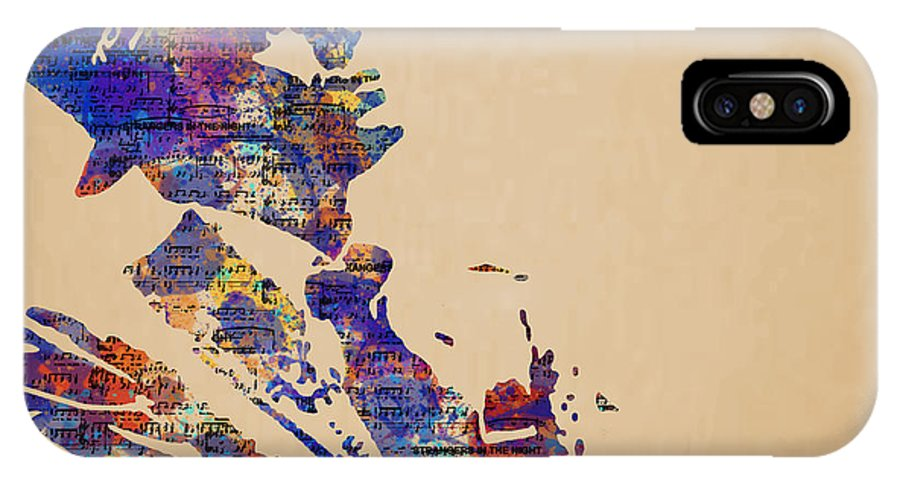 Frank IPhone X Case featuring the painting Frank Sinatra Watercolor by Laura Toth