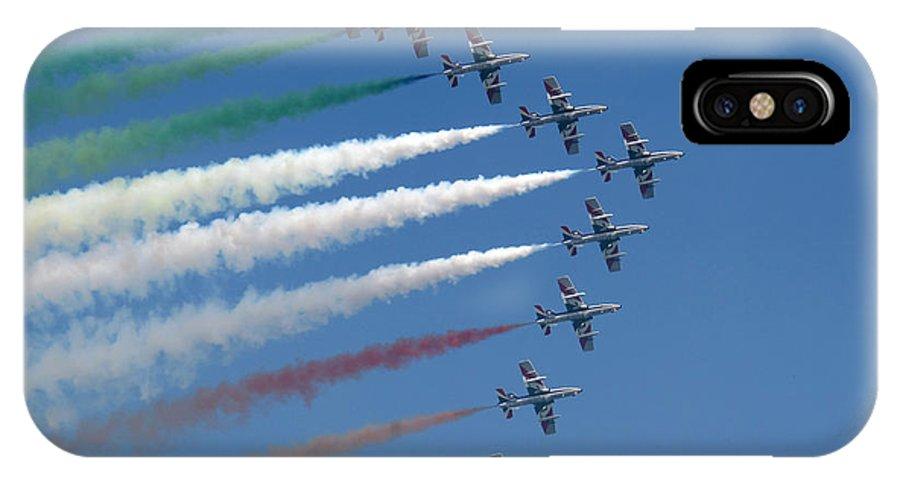 Frecce Tricolori - Marc Fontannaz IPhone X Case featuring the photograph Frecce Tricolori by Marc Fontannaz
