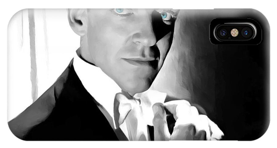 Fred Astaire IPhone X Case featuring the digital art Fred Astaire Portrait by Gabriel T Toro