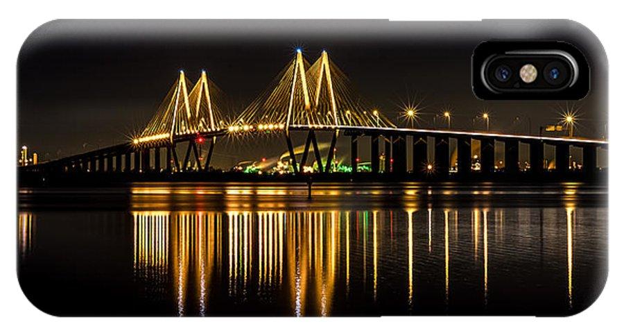 Fred Hartman Bridge IPhone X Case featuring the photograph Fred Hartman Bridge by David Morefield