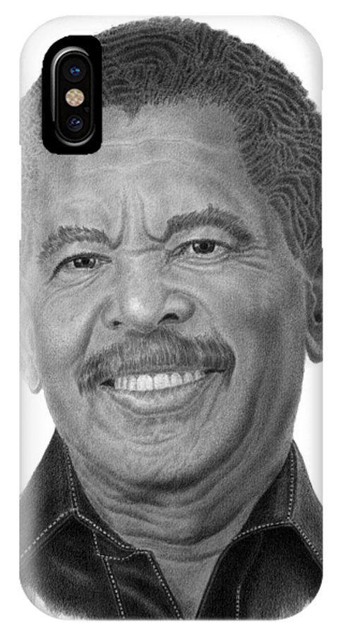 Evangelist IPhone X Case featuring the drawing Fredric K. Price by Marvin Lee