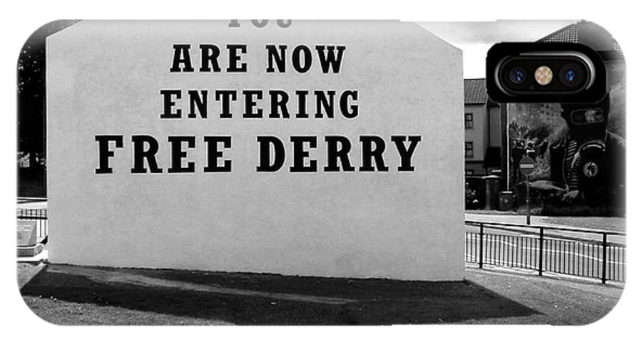Free Derry Corner IPhone X Case featuring the photograph Free Derry Corner 9 by Nina Ficur Feenan