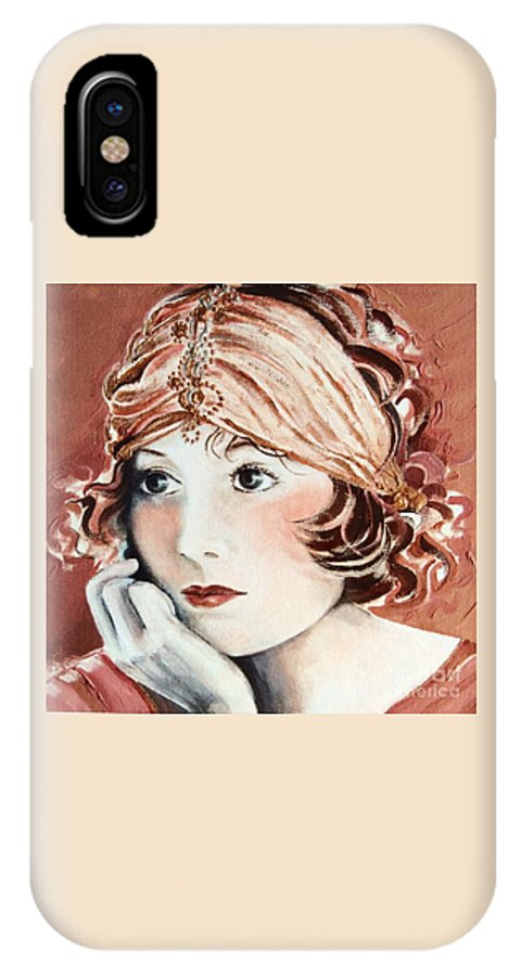 Auburn IPhone X Case featuring the painting Free Spirit by Barbara Chase