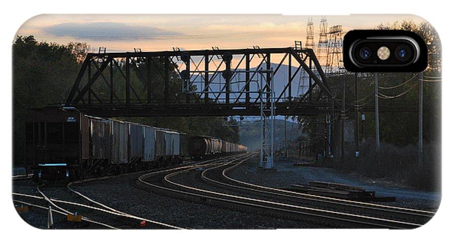 Sunset IPhone X Case featuring the photograph Freight Sunset by Kurt Von Dietsch