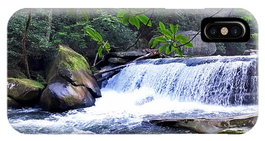 Duane Mccullough IPhone X Case featuring the photograph French Broad River Waterfall by Duane McCullough