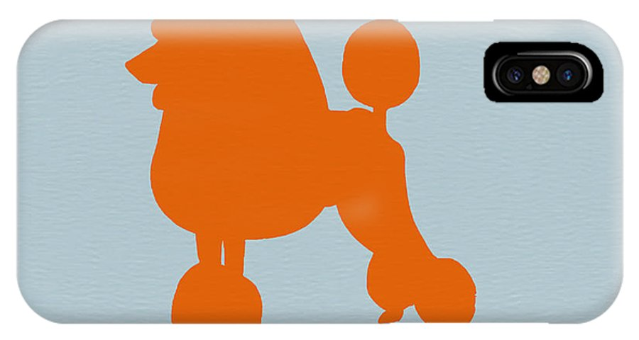 French Poodle IPhone X Case featuring the photograph French Poodle Orange by Naxart Studio