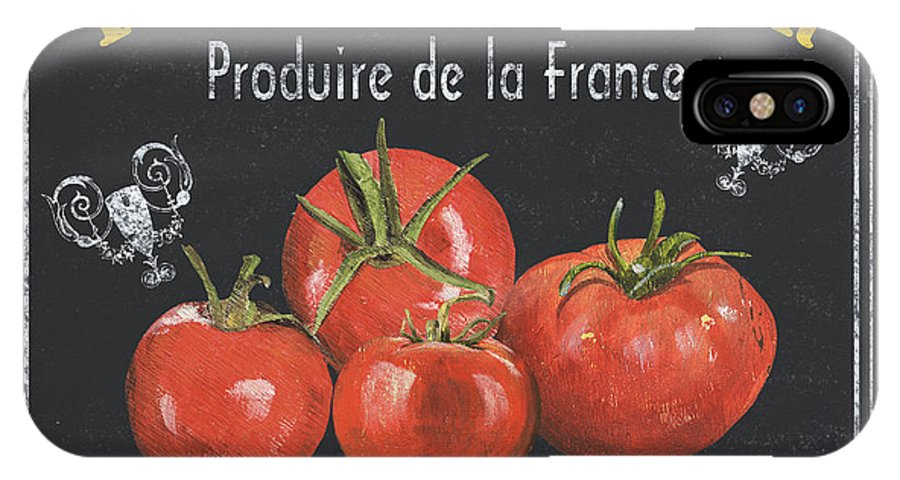 Vegetables IPhone X Case featuring the painting French Vegetables 1 by Debbie DeWitt