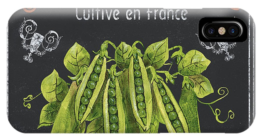 Vegetables IPhone X Case featuring the painting French Vegetables 2 by Debbie DeWitt