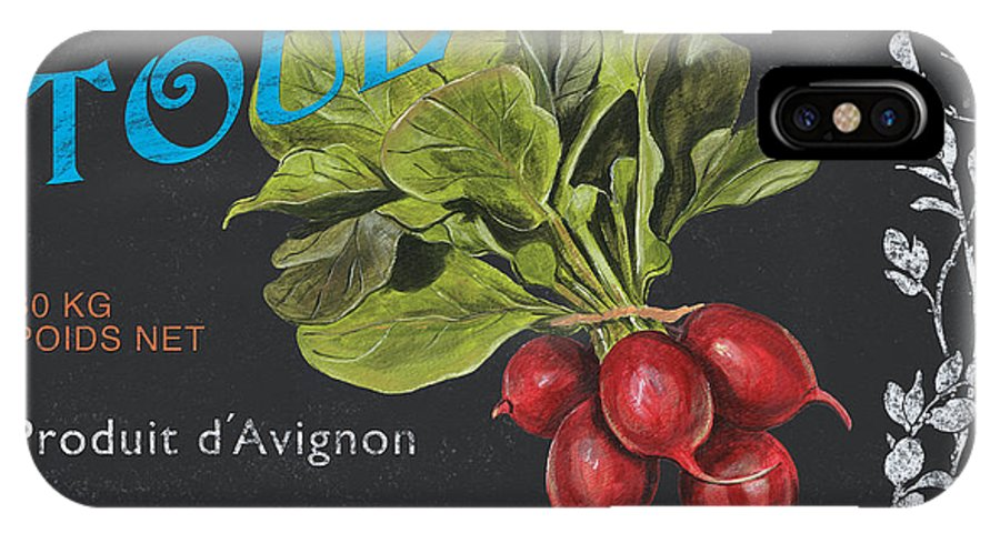 Produce IPhone X Case featuring the painting French Veggie Labels 3 by Debbie DeWitt
