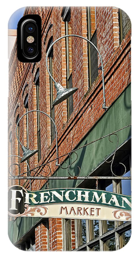 Kenny Francis IPhone X Case featuring the photograph Frenchman's Market by Kenny Francis